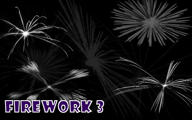 Fireworks 3 Free Gimp / Photoshop Brush set by w3b-doctor