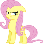 Fluttershy isn't Amused Vector