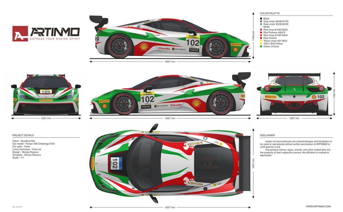 Ferrari 458 Challenge Evo Livery Design By Artinmo On