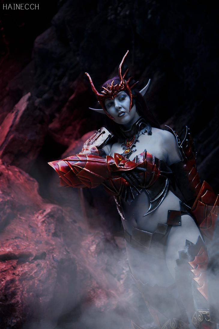 Lineage II Dark Elf in Draconic armor by dani-foca