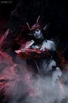 Lineage II Dark Elf in Draconic armor