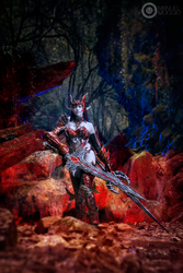 Blade Dancer! Dark Elf in draconic- Lineage II 4 by dani-foca