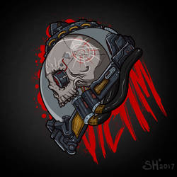Victim Print by ShackleArt