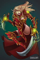 Rogue Blood Elf by ShackleArt