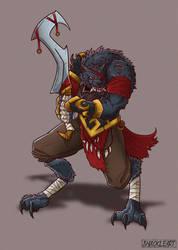 Werewolf warlord by ShackleArt