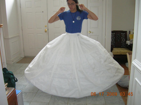 how to pack a hoop skirt