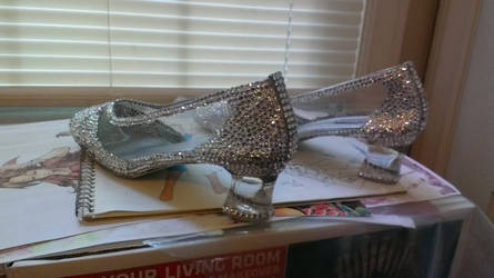 Cinderella on Broadway Glass Slippers Back Angle by AllenGale