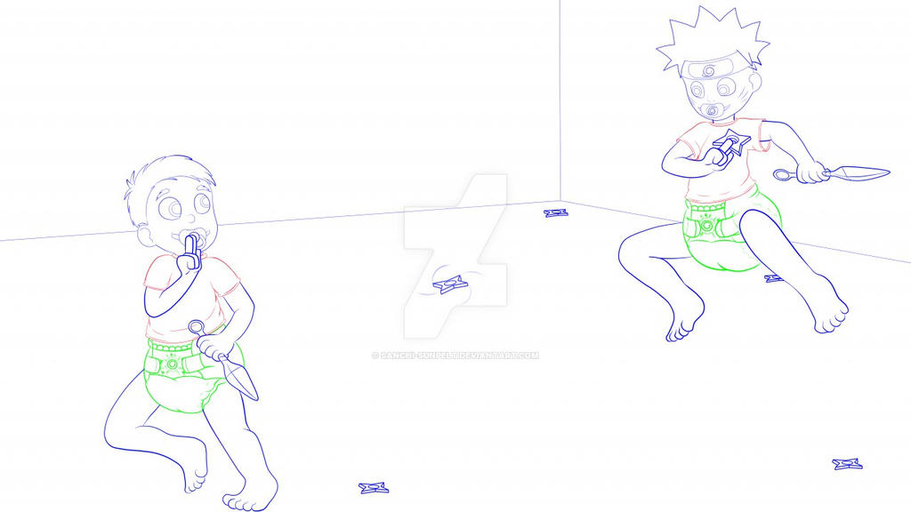 Toddler Naruto Commish WIP by Sanchi-Sunpelt