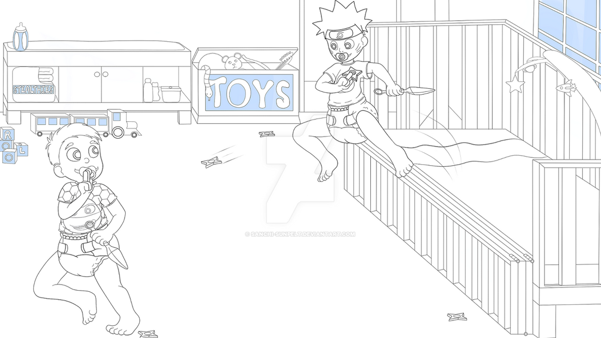 Toddler Naruto commish Final Inks by Sanchi-Sunpelt