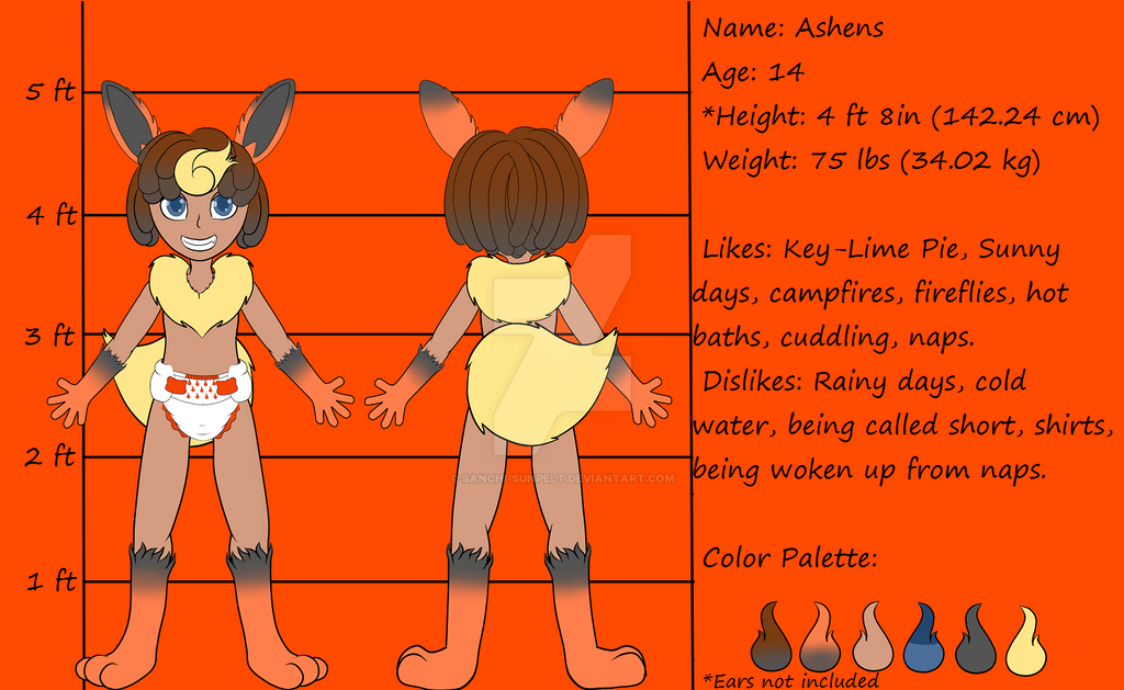 Ref Sheet: Ashens by Sanchi-Sunpelt