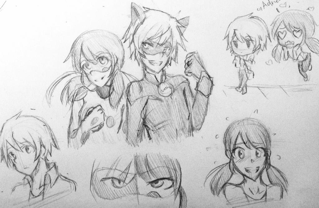 Delightful Miraculous Ladybug Sketches By EonAngel ...
