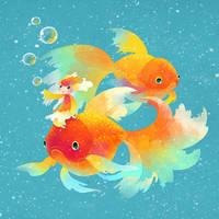 Goldfish by minayuyu