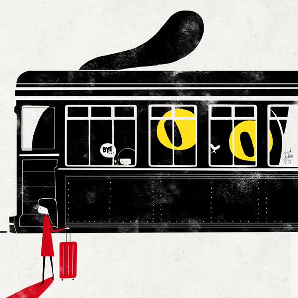 Life is like a train by minayuyu