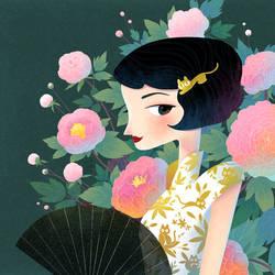 vintage girl by minayuyu