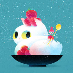 shaved snow cat