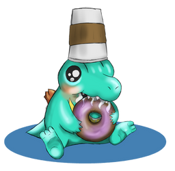 Totodile the Snack Thief by MrSparta618