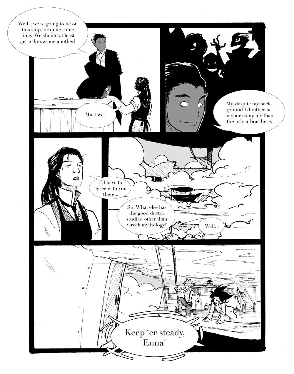 Rogue Skies: Round 1- pg 5 by ZarathePirate