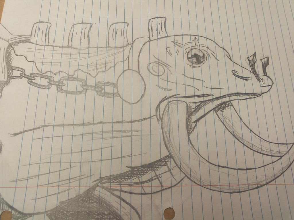 Random Adamantoise drawing by ChickenSabertooth1