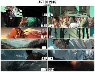 The art of 2016 by adamlara