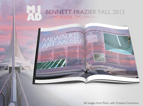 Milwaukee Art Museum 2pg Spread Magazine