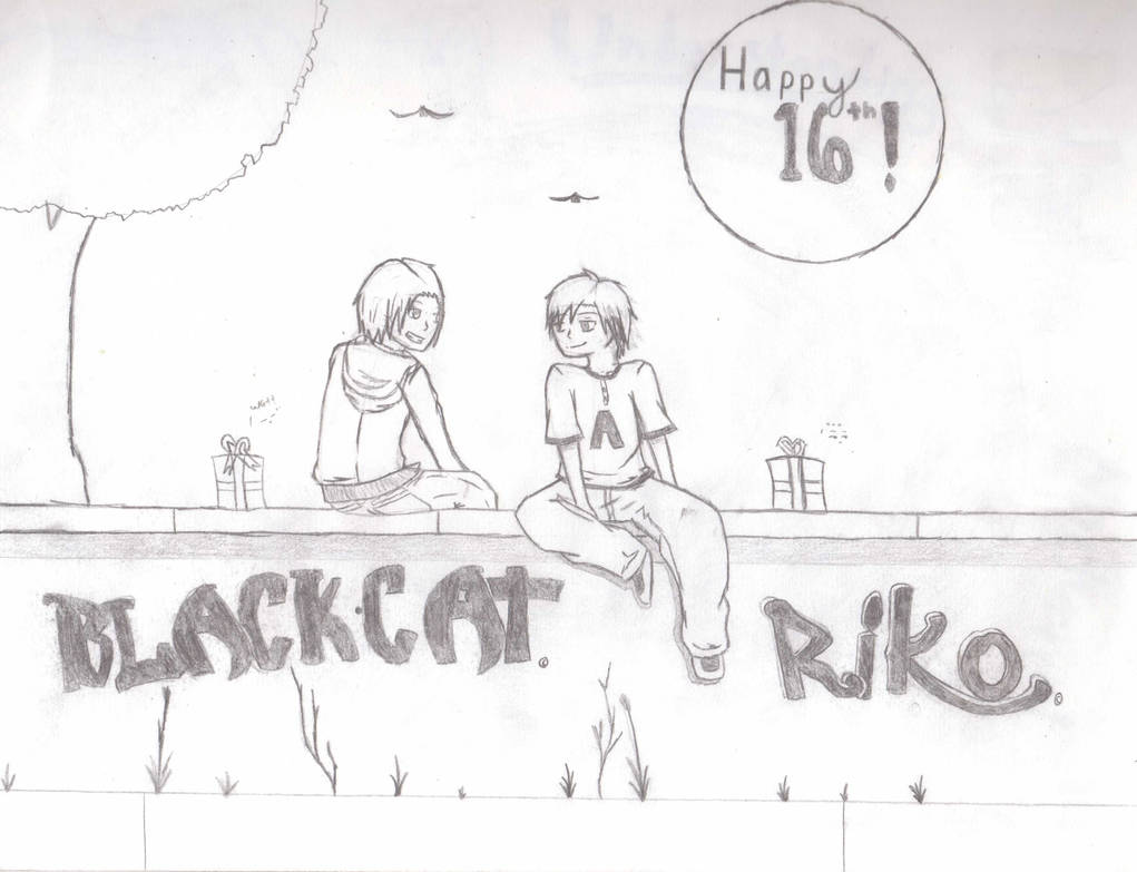 Happy birthday aj part 2 pencil sketch by blackcatoffire