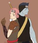Kisame and Sakura AU commish