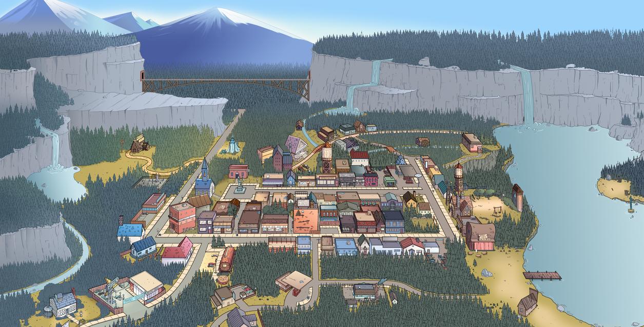 Gravity Falls Map by markmak