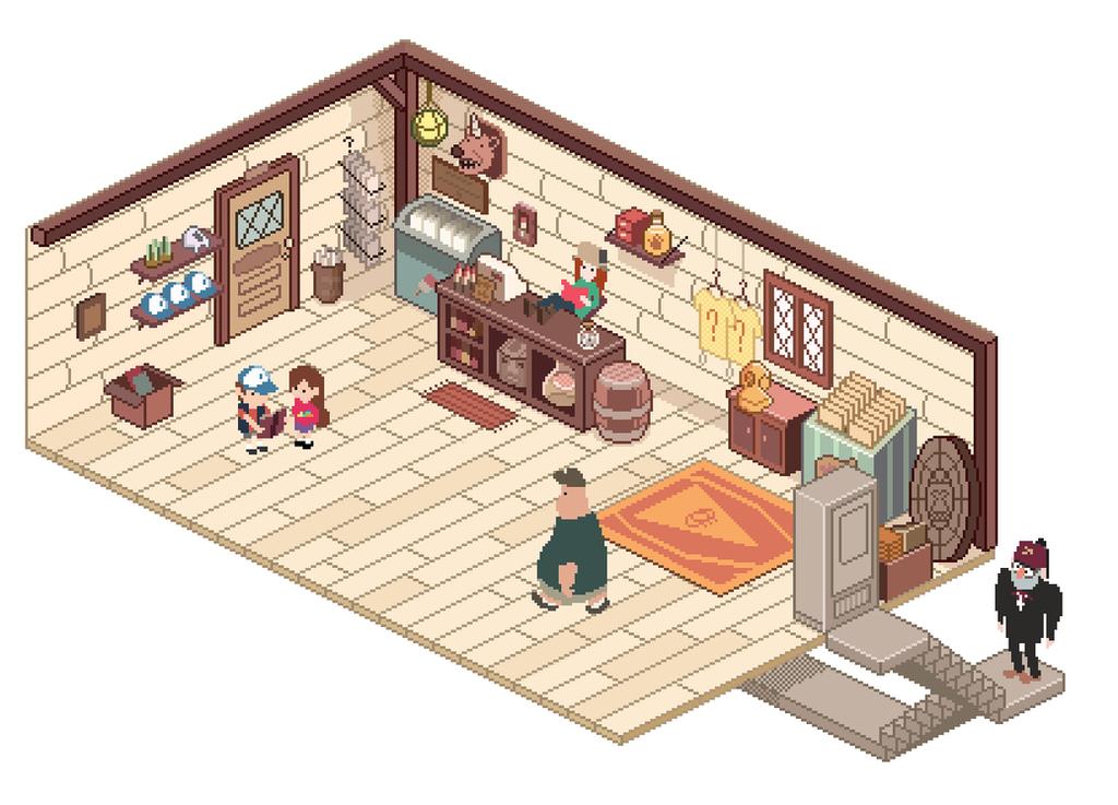 Mystery Shack Gift Shop by markmak on DeviantArt