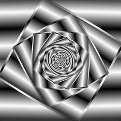 Mono-chrome gradient spiral
