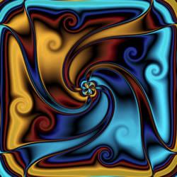 Soft metallic Whirls by nova-images