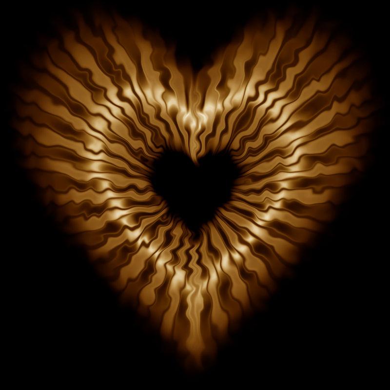 Metallic Gold Heart by nova-images