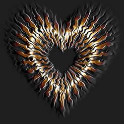 Metallic Gold Heart-01 by nova-images