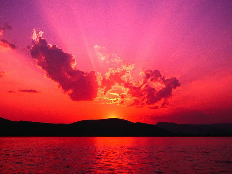 Pink sunset by Machining36