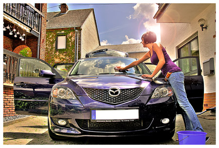 working at the carwash by Bastiphoto