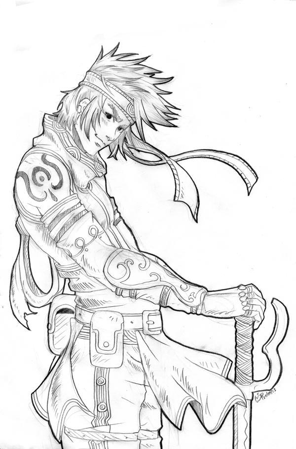 Standing -sketch- by Xelgot