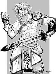 Bloody warrior by Xelgot