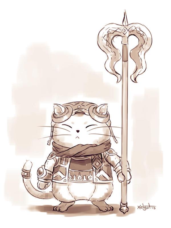 Little cat warrior by Xelgot