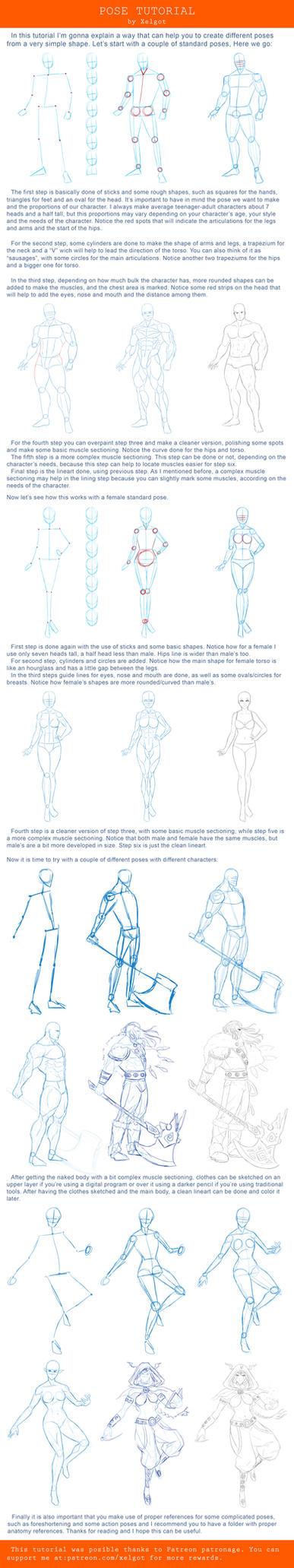 Pose tutorial by Xelgot