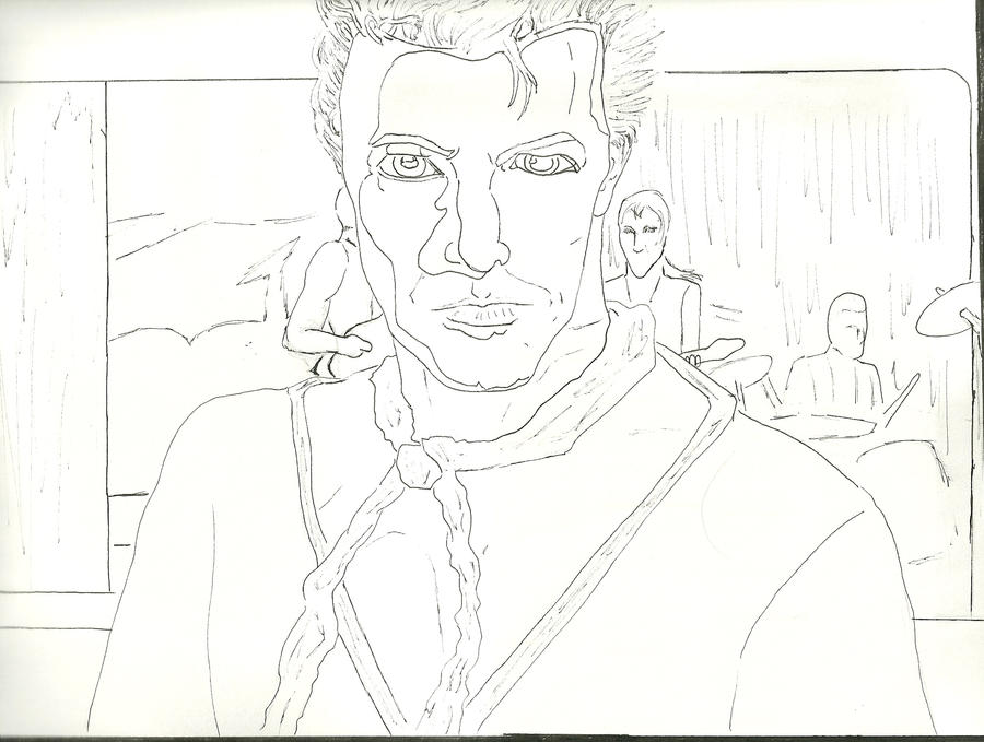 Screamin' Lord Byron Uncolored by silvermoon822
