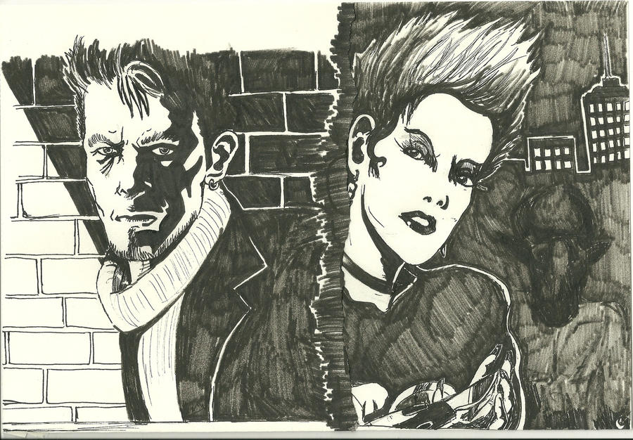 Outside Crime Noir Study by silvermoon822 on DeviantArt