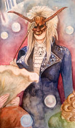 Labyrinth Tarot- 15 The Devil by silvermoon822