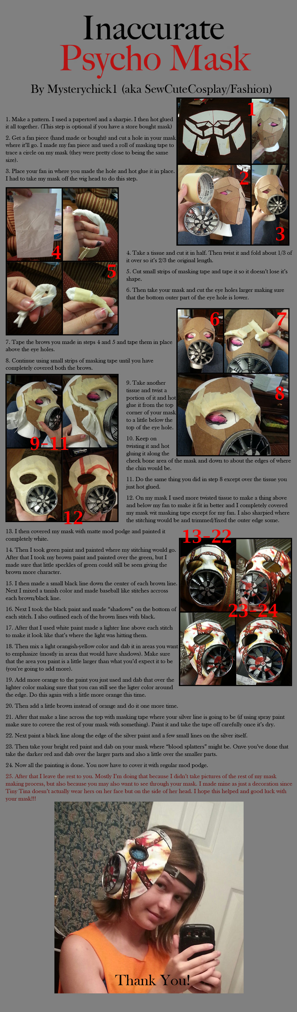 Inaccurate Psycho Mask (Bl2 Tiny Tina cosplay)