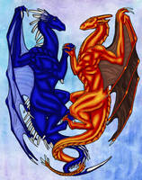 Two Dragons by starglo21