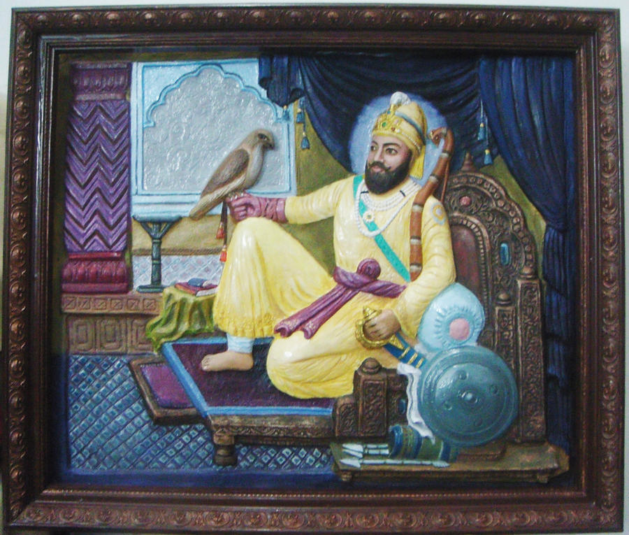 Guru Gobind Singh on Horse Guru Gobind Singh on The