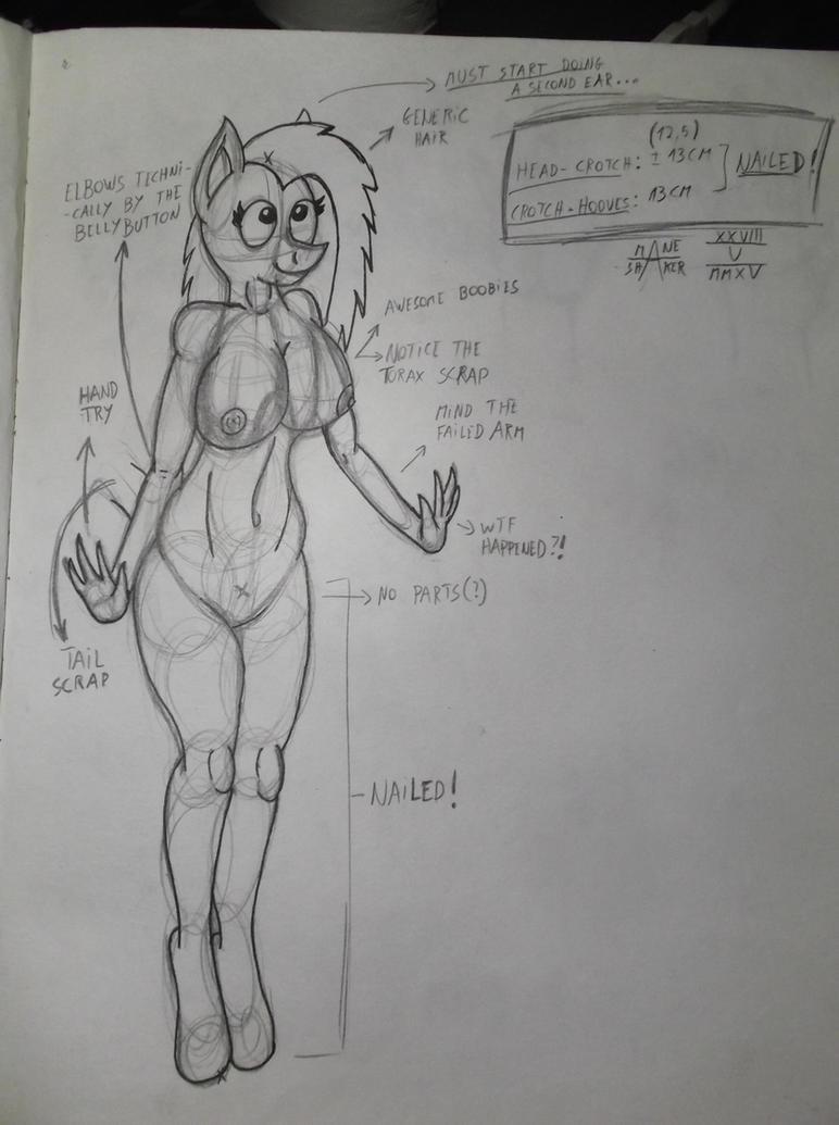 Anatomy Practise by Mane-Shaker