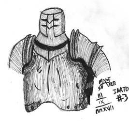 Inktober #3 - Iron Tarkus by Mane-Shaker