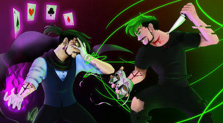 Marvin the Magnificent vs Antisepticeye by DMNfox