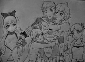 RWBY x Halo: Young Chief trapped by the RWBY team. by Yukari-B312