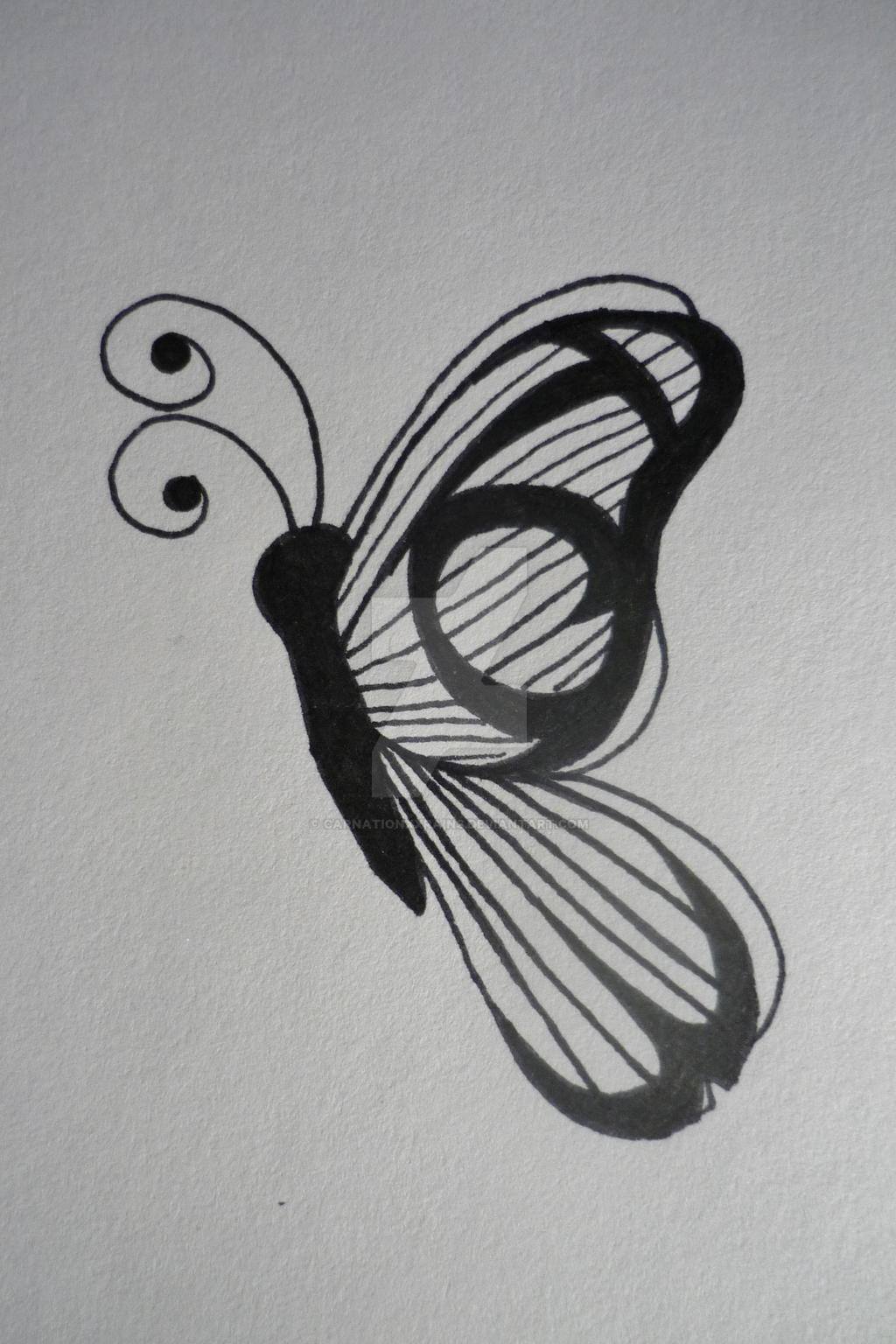 butterfly initials tattoo by carnationxxrains on deviantart. Black Bedroom Furniture Sets. Home Design Ideas