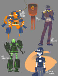 March of Robots #1-5 by EFBailey